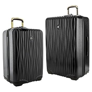 Image of Joy Mangano Hardside Medium Luggage (Carry-on) and Xl Luggage Combo, Black Onyx Luggage