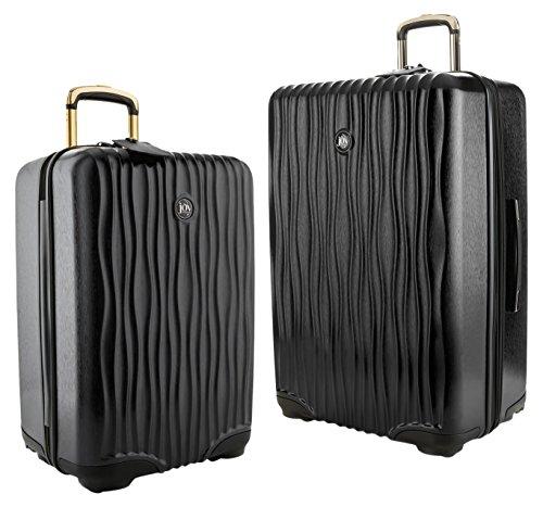 Joy Mangano Hardside Medium Luggage (Carry-on) and Xl Luggage Combo, Black Onyx