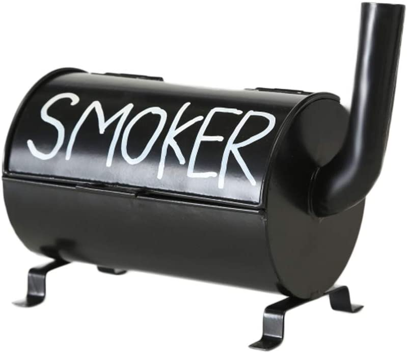 HausderHerzen Garten-Aschenbecher im Smoker-Design f/ür Grillprofis