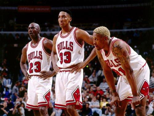 Chicago Bulls Legends Jordan Pippen Rodman Print Poster