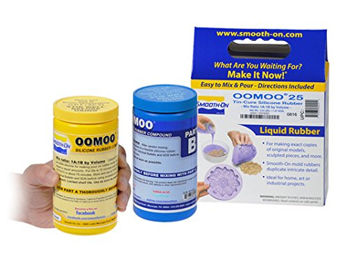 Smooth-On OOMOO 25 - FAST Curing Mold Making Silicone Kit - 2 Pints - - Cast Wax