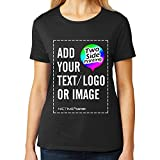 NICTIME Custom Womens T shirts Design Your Own Front And Back Add Text Image