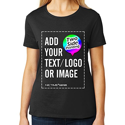 Custom Women's T-Shirts Design Your Picture Text Personalized Feme Tee Shirts