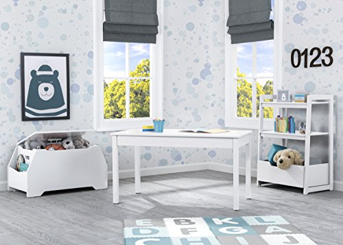 Kids Play Table | Grow with Me Convertible Desk | Delta Children | Bianca White | Ideal for Arts & Crafts, Snack Time, Homeschooling, Homework & More