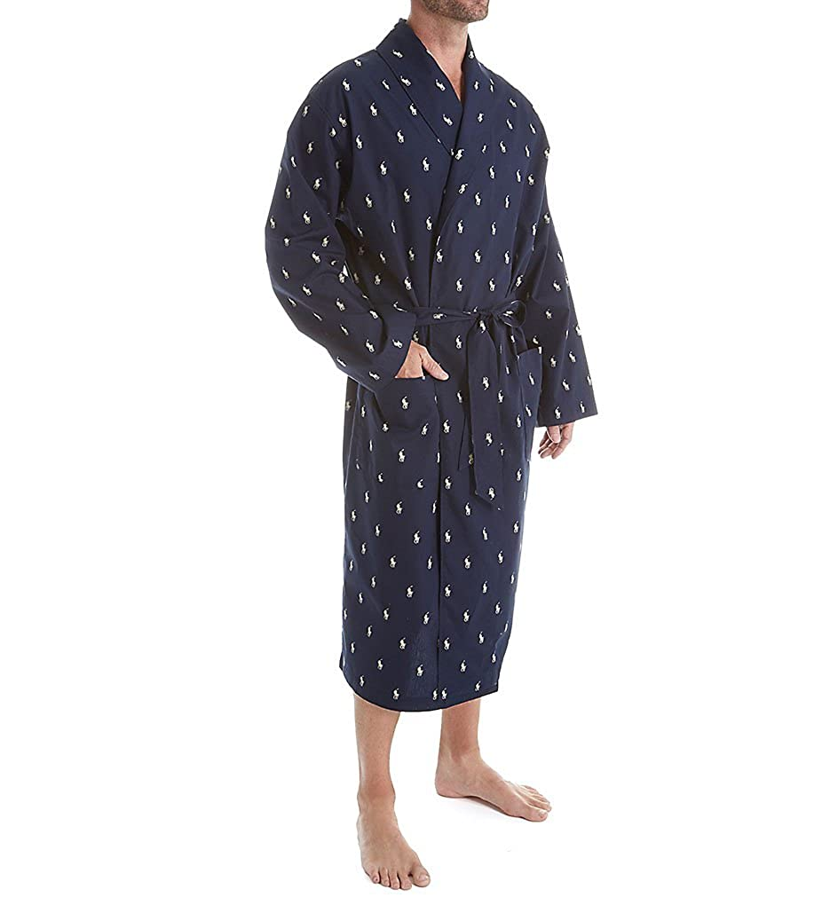 L009 Polo Ralph Lauren All Over Pony Cotton Robe