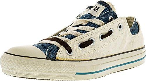 Converse Chuck Taylor All Star Plaid (Converse Chuck Taylor Double Upper Oxford Parchment Plaid Canvas Fashion Sneaker - 8M/6M)