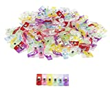 Sewing Clips - 200-Pack Multicolored Quilt Clips, Binding Clips, for Hold and Organize Fabric, DIY Craft Projects, Crochet, and Knitting