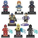8Pcs/Lot New DC Super Heroes Minifigures Flash Atom Building Blocks Models Figures Toys Legoelieds