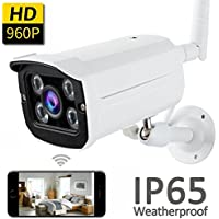 Wireless Security Bullet Camera with 960p HD WiFi IP Surveillance Cameras Real Time APP Remote System Indoor Outdoor Home Yard Garage Office Security Day or Night Waterproof by iCooLive (960)