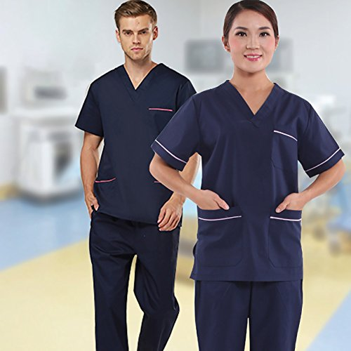 Laboratoire THEE Unisexe Professionnel Chimie Uniforme Blouse Homme Mdical Infirmire OwqCz0On
