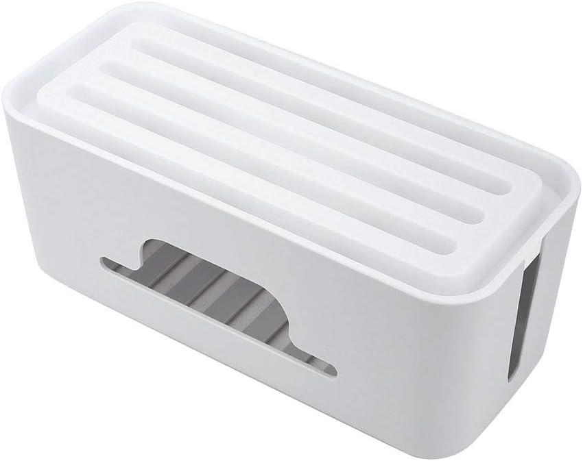 Soporte Pasamer Cargador Gris Organizador de Almacenamiento Caja de administraci/ón de Cables de Alambre de Gran Capacidad para el hogar Caja