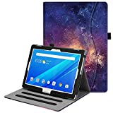 Fintie Lenovo Tab 4 10.1 Case, Multi-Angle Viewing Folio Stand Cover with Pocket Auto Wake/Sleep for Lenovo Tab 4 10/Lenovo Tab 4 Plus 10/AT&T Lenovo Moto Tab 2017 Release, Galaxy