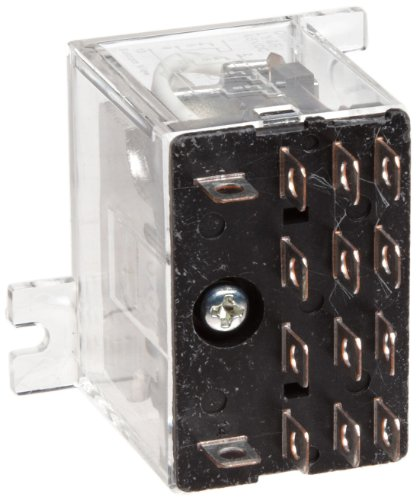 Omron LY2F-AC24 General Purpose Relay, Standard Type, Plug-In/Solder Terminal, Upper Mounting Bracket, Single Contact, Double Pole Double Throw Contacts, 53.8 mA at 50 Hz and 46 mA at 60 Hz Rated Load Current, 24 VAC Rated Load Voltage
