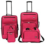 Hercules Jetlite 4-pc. Luggage Set WATERMELON PINK, Bags Central