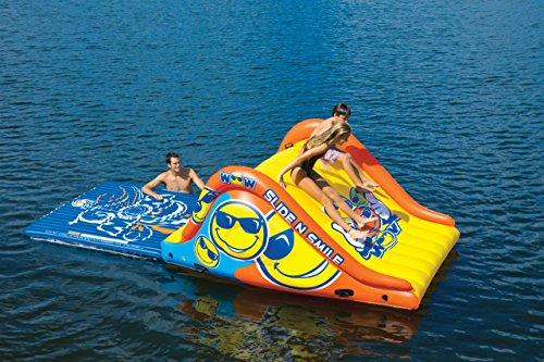 WoW Watersports 18-2000 Slide N Smile Floating 2 Lane Waterslide, 9 Feet Long by WoW Sports (Image #2)