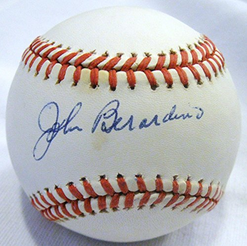 Hardy Signed Baseball - Johnny Berardino Signed Baseball - John Beradino dec 96 Dr Steve Hardy RARE Single - PSA/DNA Certified