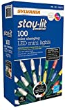 Sylvania 35ce 3-Function Color Changing Connectable LED Mini Christmas STRI, White