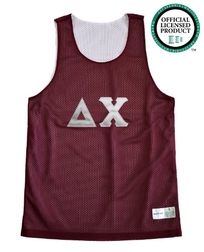 DELTA CHI Unisex Mesh D. Chi Tank Top. White Sewn Letters, Various Colors
