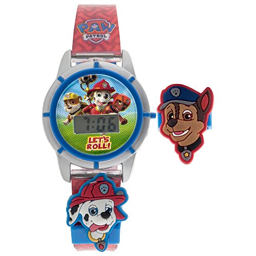 Paw Patrol LCD Digital Watch with Interchangeable Sliders