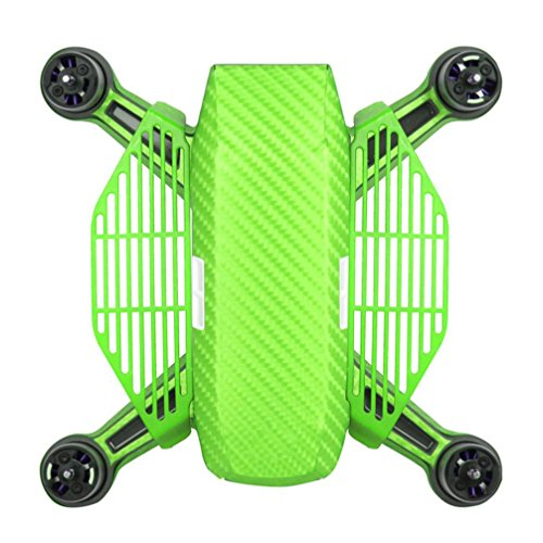 Amiley For dji spark drone , 2pcs Drone Fans Hand Guard Finger Palm Board Fence Protector for dji spark drone (Green)