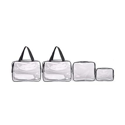 Tong Yue 4 Bolsas de PVC Transparente con Cremallera, Bolsa ...