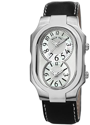 Philip Stein Men's Signature Mother Of Pearl Dial Dual Time Quartz Watch 2-NFMOP-CSTB