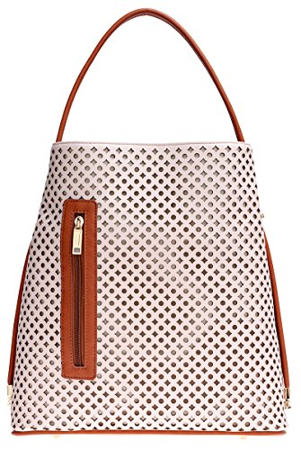 samoe-style-off-white-seashell-laser-cut-texture-and-tan-trim-convertible-shopper-handbag