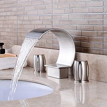 Homili Widespread Waterfall Bathroom Sink Faucet 3 Piece