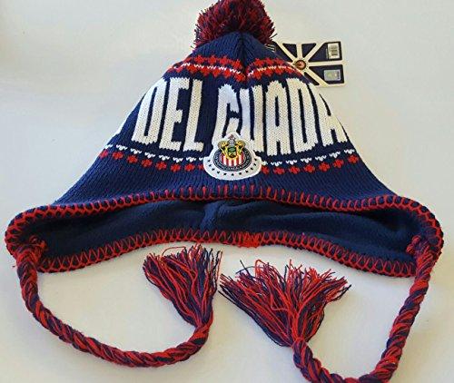Chivas del Guadalajara Official Licensed Peruvian Tassels Beanie Knit Hat by Rhinox