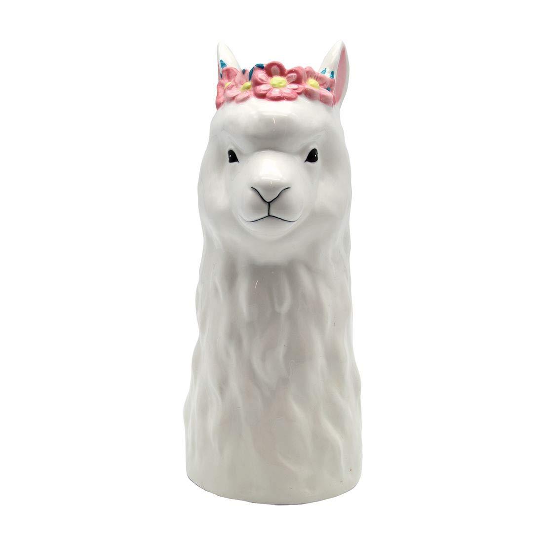 "DEI Llama Vase, 5"" x 10"", Multicolored"