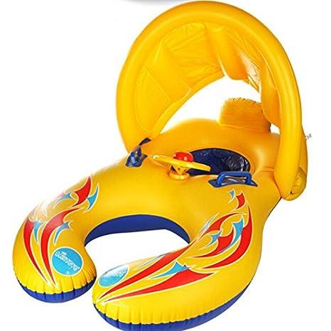 Demana Bebé Natación Anillos Flotador de Peces sombrilla Natación Inflable Barco Piscina flotadores de Barcos: Amazon.es: Juguetes y juegos