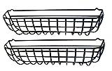 Garden Artisans 36' Wrought Iron Window Hayracks Coated in Black PVC - 2 Pack