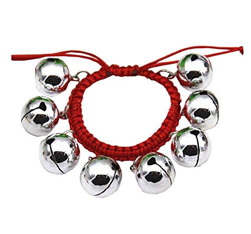 avec Bells performance corde 2 pour danseur Equipment PCS Dance rouge argent HZqq7WwIT6
