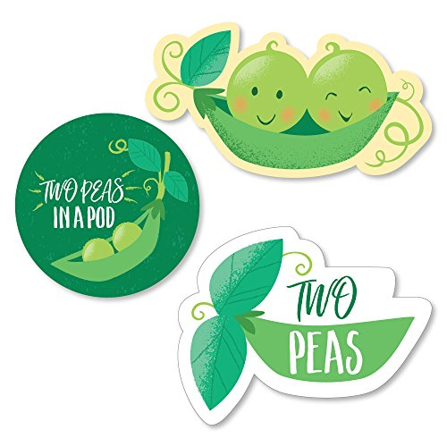 (Big Dot of Happiness Double The Fun - Twins Two Peas in a Pod - DIY Shaped Baby Shower or First Birthday Party Cut-Outs - 24 Count)