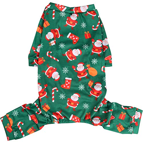 Lamphyface Christmas Dog Pajamas Clothes Pet Costume Apparel Xmas Coat Jumpsuit