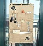 (サモルックス)Sumolux ウォールポケット 壁掛け収納式 壁掛け収納ウォールポケット 鍵などを掛けるフック付き 3段のポケット 整理 収納袋