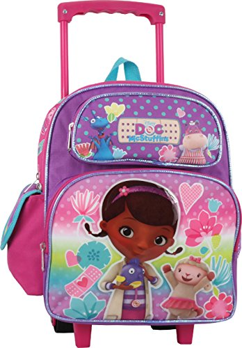 (Doc McStuffins 12 inch Toddler Rolling Backpack)