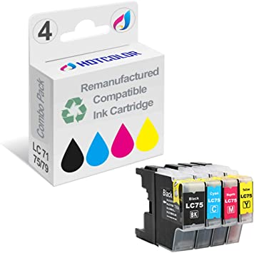 Smart Print Supplies Compatible LC-75 LC75C LC75M LC75Y Ink Cartridge Replacement for Brother MFC-J6510DW J6710DW J6910DW J280W J425W Printers Cyan, Magenta, Yellow 3 Pack