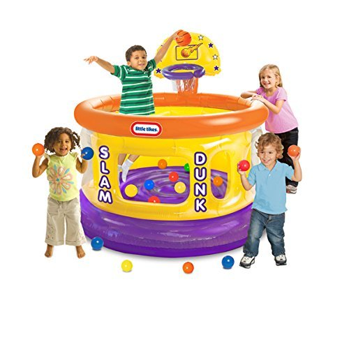 Slam Dunk Collection (Slam Dunk Big Ball Pit with 20 Soft Balls, Multi Colored by Product Little Tikes.)