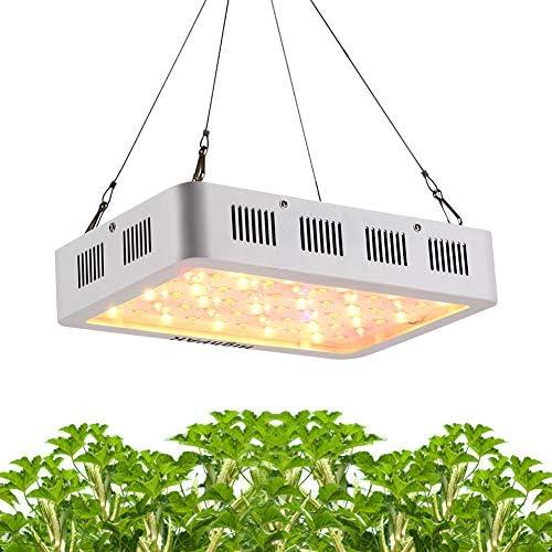 Grow Light, HighPAR Full Spectrum 600W LED Plant Grow Lamp for Indoor Hydroponic Medical Plants Veg Bloom Switch White Red UV IR LED Hanging Double Chips Grow Light 10W LED, 60pcs , White