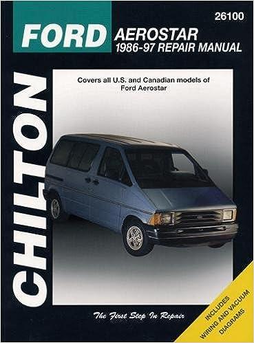 Ford Aerostar, 1986-97 (Chilton Total Car Care Series Manuals): Chilton:  9780801991325: Amazon.com: Books