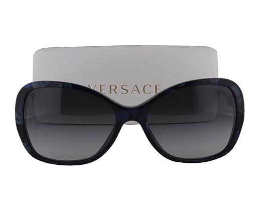 23386d8a25 Amazon.com  Versace VE 4271-B Marble Black-Green-Blue w Gray Gradient Lens  5127 8G  Clothing