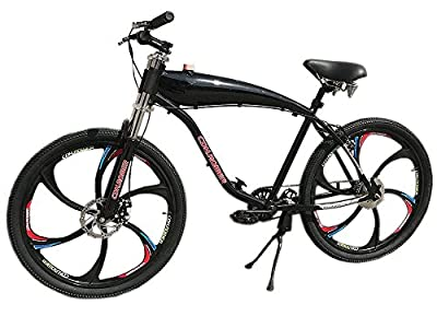 CDHpower 26 Inch Gas Motorized Bicycle/Gas Bike/Beach Cruiser Bicycle w/2.4L Gas Tank Frame(Black) - Gas Motorized Bicycle 66cc/80cc/48cc/49cc