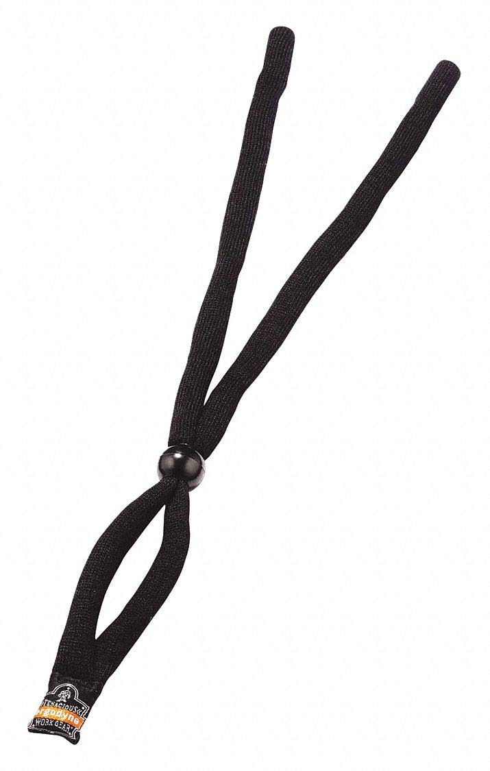 Eyewear Lanyard, Cotton, 14'' L, Black pack of 5 by SKULLERZ BY ERGODYNE (Image #1)