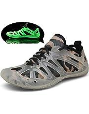 3ec7812507 Chaussures Aquatiques Homme Femme Chaussures d'eau Fluorescente Séchage  Rapide Pieds Nus pour Plage de