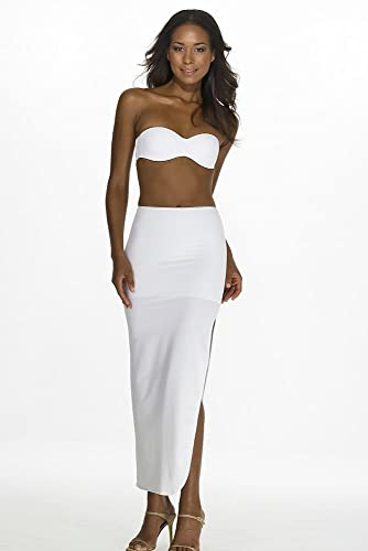 a42bad9abc David s Bridal Dominique Full Length Control Slip Style 7218WHITE at Amazon  Women s Clothing store