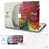 KECC Laptop Case for Old MacBook Pro 13' Retina (-2015) w/Keyboard Cover Plastic Hard Shell Case A1502/A1425 + Screen Protector 3 in 1 Bundle (Brain)