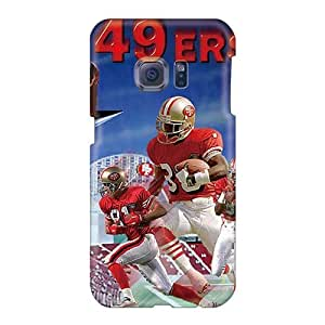 AlissaDubois Samsung Galaxy S6 Shockproof Hard Phone Cases Allow Personal Design HD San Francisco 49ers Pattern [OZH10565VKFk]