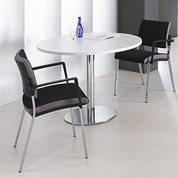 Esstisch weiß rund  OPTIMA runder Besprechungstisch Esstisch Küchentisch Tisch Weiß ...