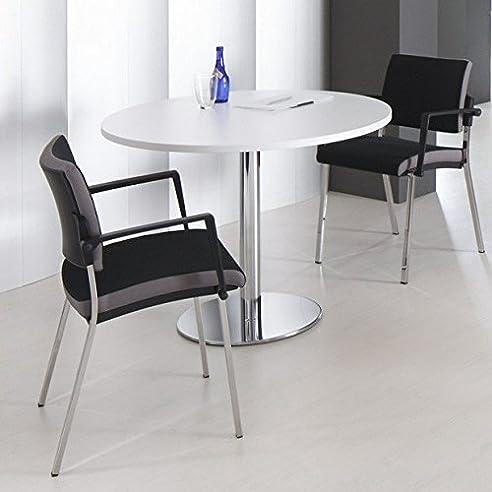 Optima Runder Besprechungstisch Esstisch Küchentisch Tisch Weiß
